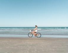 Bike na praia em Daytona Beach