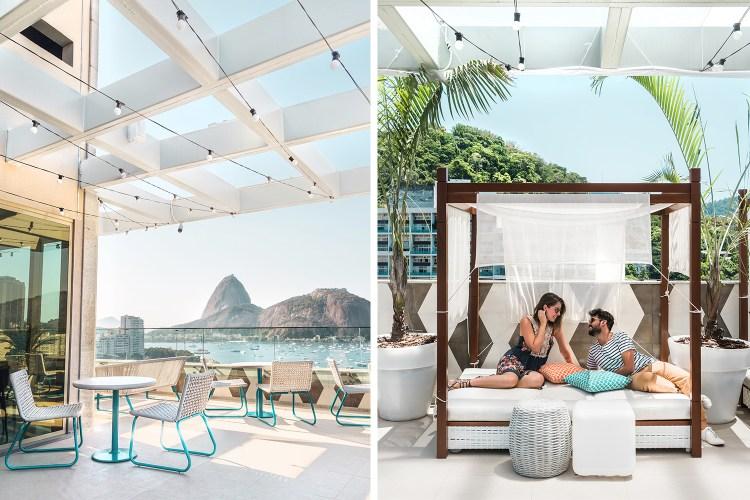 Rooftop Yoo2 hotel design no RJ