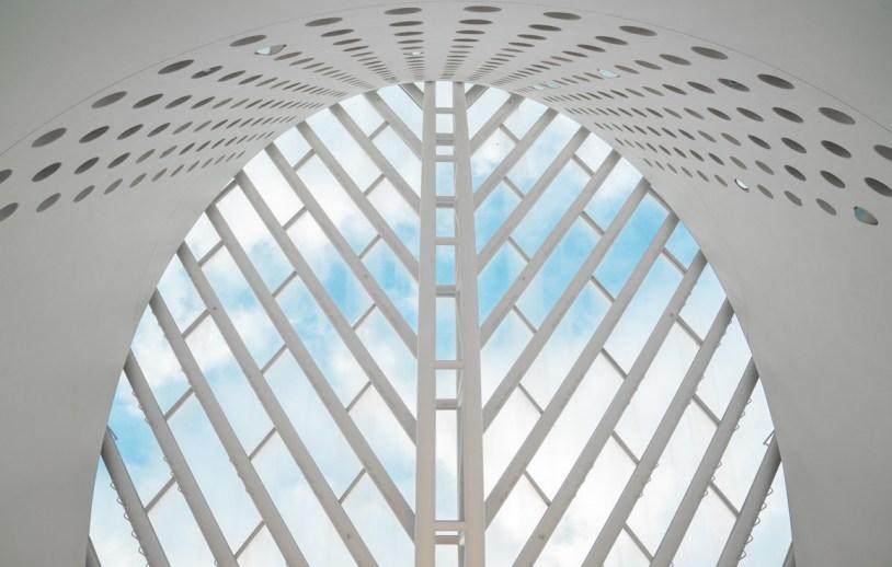 Detalhe da arquitetura no San Francisco Museum of Modern Art