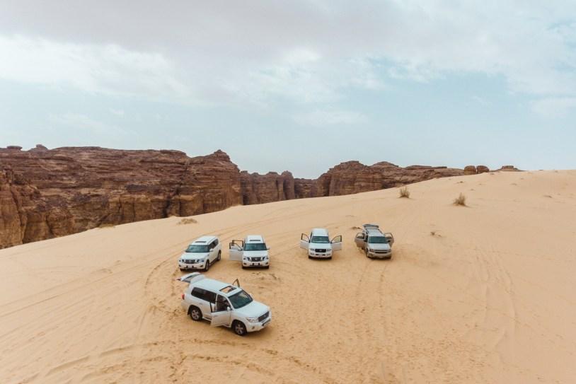 Safari de jipe no deserto da Arabia Saudita
