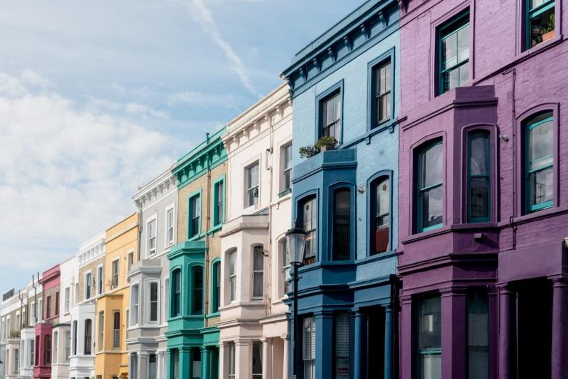 Dicas de viagem em Londres: as casinhas coloridas de Notting Hill