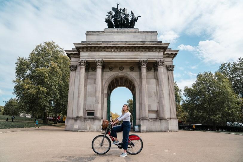 Dicas de viagem em Londres: passeio de bike pelo Hyde Park e Wellington Arch