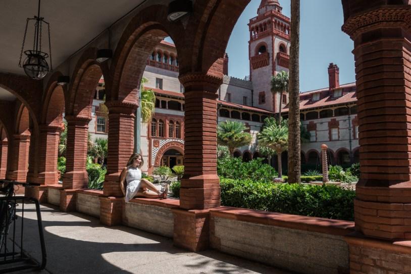 Arquitetura espanhola no Flagler College em St Augustine, na Florida