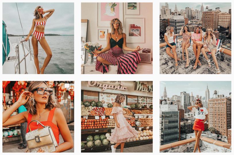 Como criar harmonia entre cores, looks e cenários para fotos no Instagram.