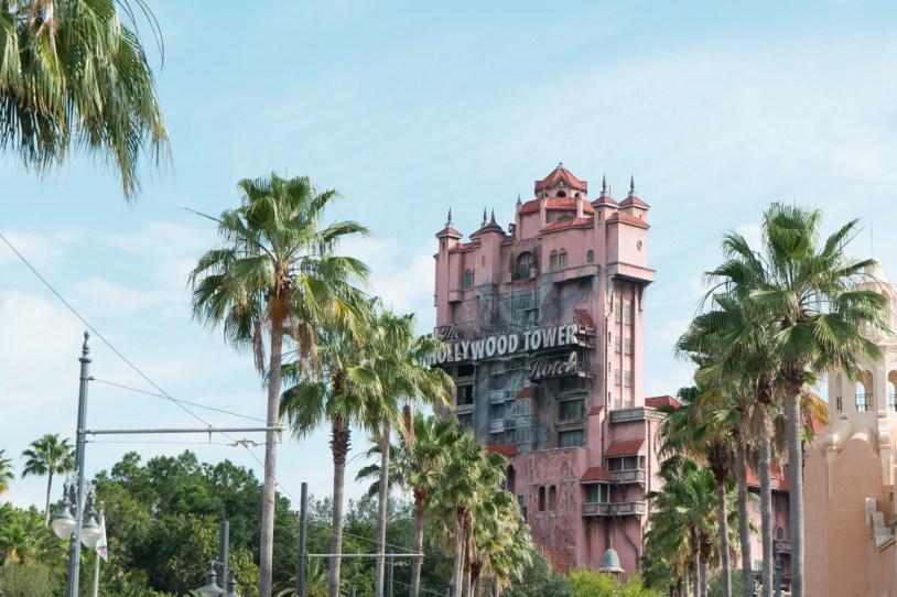 Torre do terros no parque Hollywood Studios, na Disney