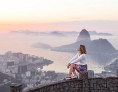 Imagem inspiradora no Mirante Dona Marta, no Rio de Janeiro