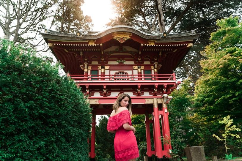 Raíra no jardim japones de San Francisco