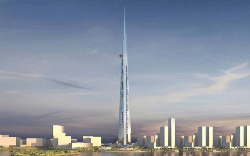 Projeto da Kingdom Tower de Jeddah, futuro prédio mais alto do mundo