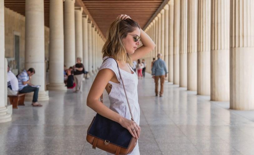 Estoa de Atalo, construcao na Antiga Agora de Atenas. Por Delicia de Blog.