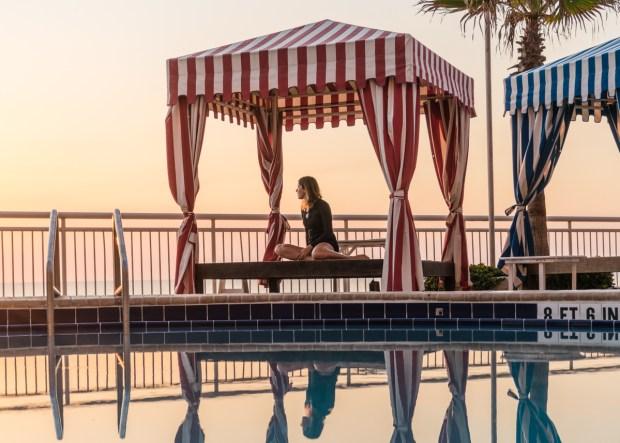 Piscina no Shores Resort, em Daytona Beach