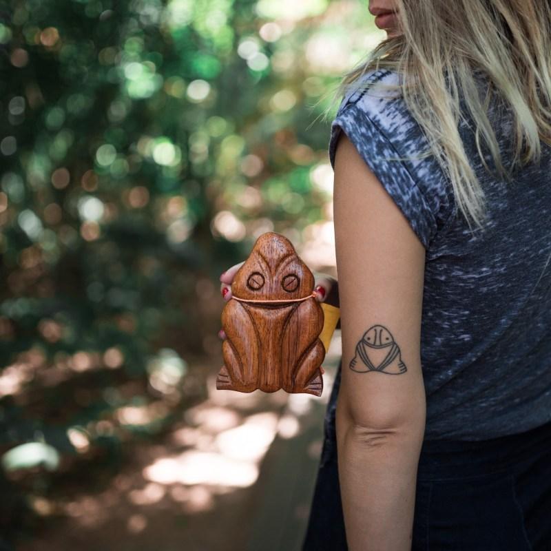 Tatuagens inspiradas e viagem: muiraquita, da Amazonia. Por Delicia de Blog.