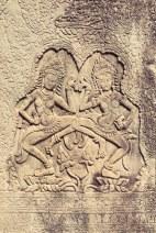 Détails gravure Temple Angkor - Délicieuse Vie