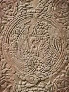 Détails gravure aigle Temple Angkor - Délicieuse Vie