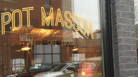 Pot Masson restaurant Vieux Rosemont - devanture