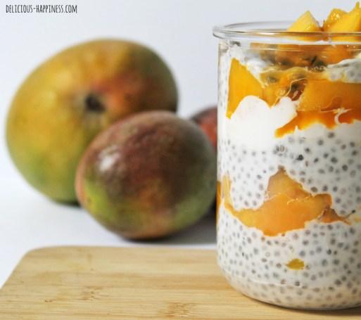 10 idées de recette dessert vegan - parfait mangue, fruits de la passion et graines de chia
