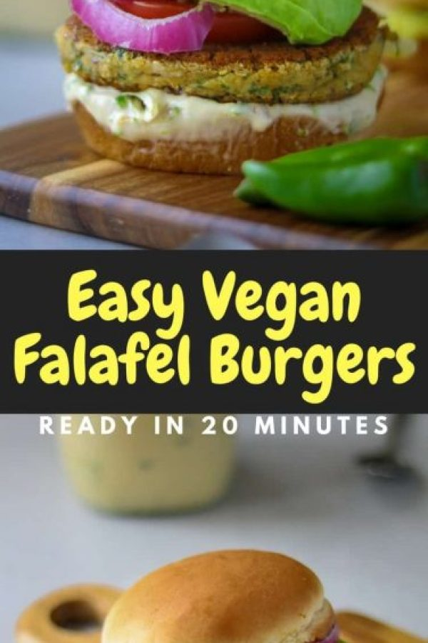 This easy falafel burger recipe is one of the quickest burger recipes I have ever made! Starting from scratch and building a mouthwateringly delicious burger in only 20 minutes is a miracle in my eyes and the fact that this falafel burger is also pretty healthy helps me eat it even quicker!