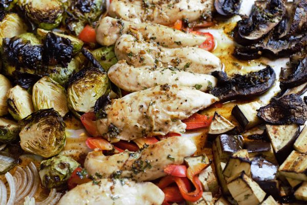 Sheet Pan Balsamic Glazed Chicken and Roasted Vegetables