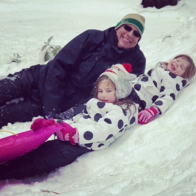conlin and girls at snow