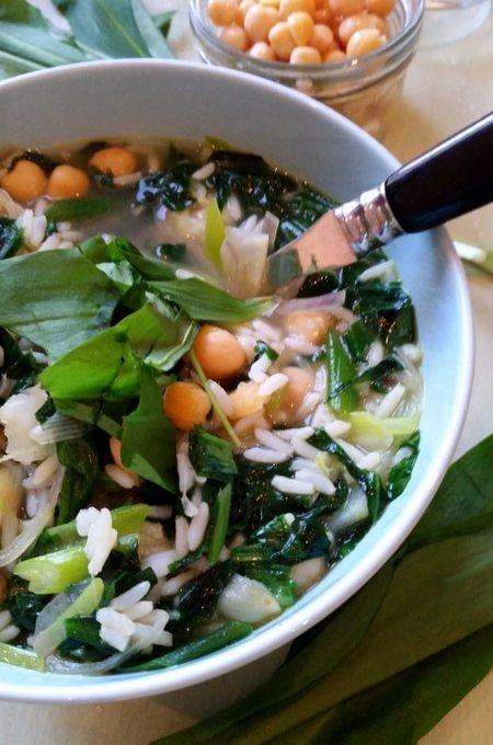 Soup of the day…Scharfe Bärlauch- Gemüsesuppe