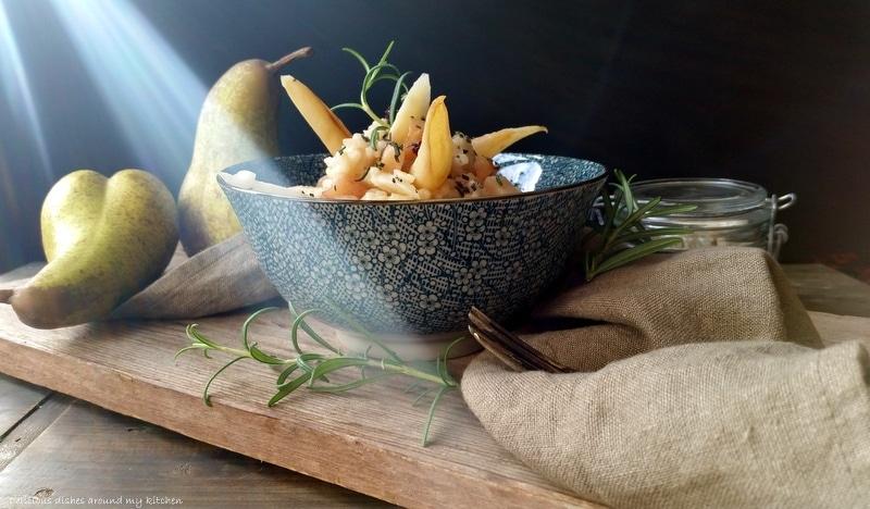 Schwarzwurzel- Risotto mit Birnen und Berberitzen