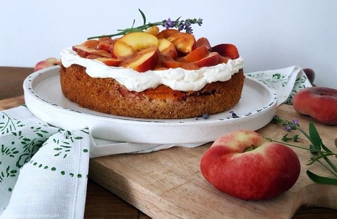 Pfirsich- Mascarpone- Kuchen