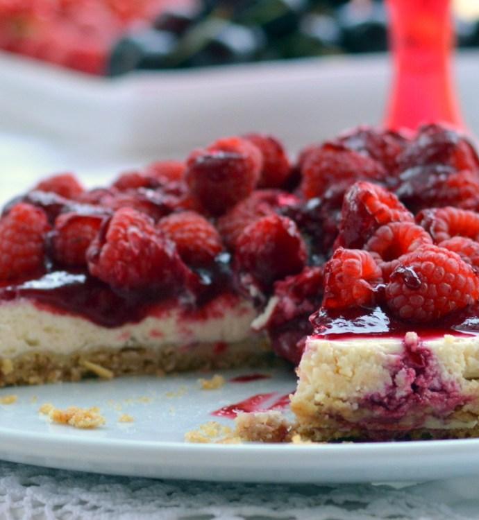 Red Dinner der Rhein- Neckar- Blogger- Ein Cheesecake mit Himbeeren und meine persönliche Herausforderung