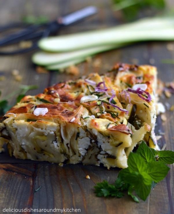 Zucchini- Filoteig Kuchen