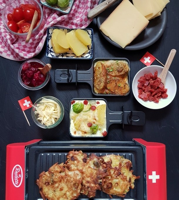 Raclette Suisse- Kreative Pfännchen klassisch mit Kartoffeln