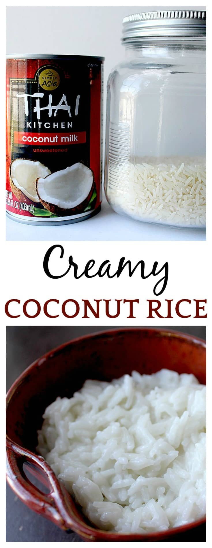 Creamy Coconut Rice - the easiest way to make the creamiest coconut rice that is just loaded with flavor! This coconut rice recipe is made at least once a week and goes so well with so many dishes! Definitely, a family friendly recipe everyone is sure to love!