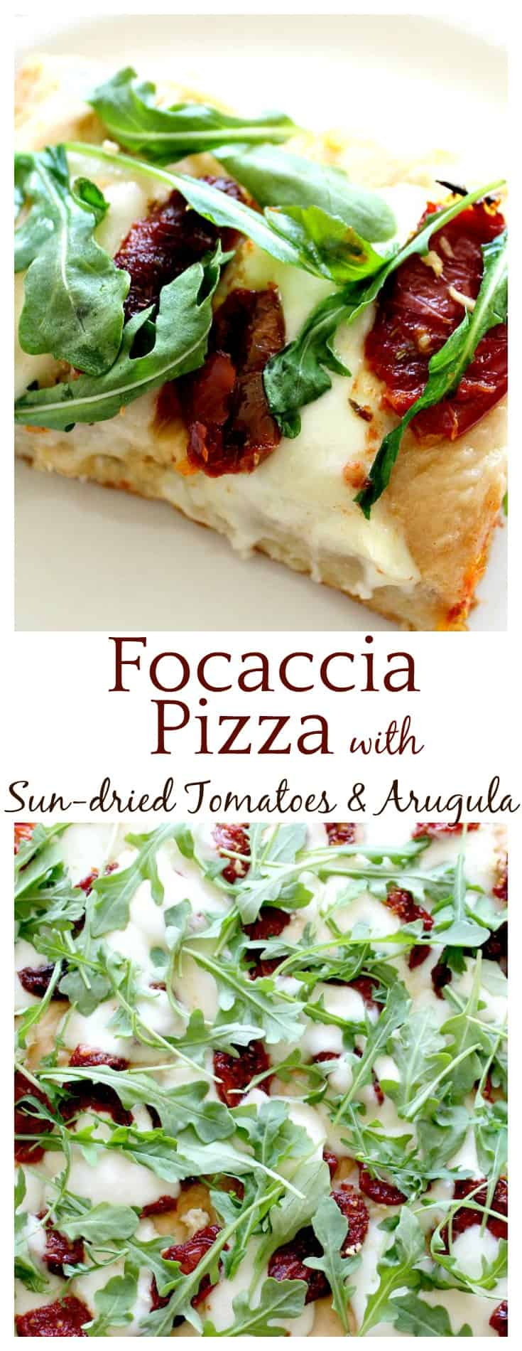 Focaccia Pizza with Sun-dried Tomatoes and Arugula ...