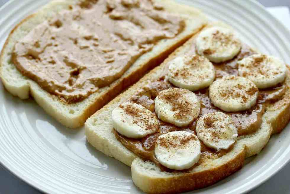 Grown Up Peanut Butter and Banana Panini