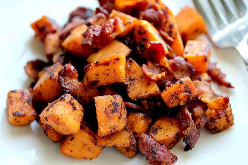 Maple Bacon Sweet Potato Hash