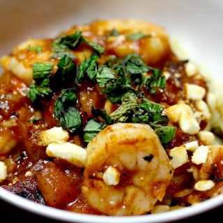 Sun Basket – Baked Shrimp with Tomato, Feta, Orzo, and Mint