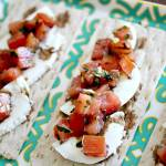 Bruschetta Crackers with Mozzarella Cheese