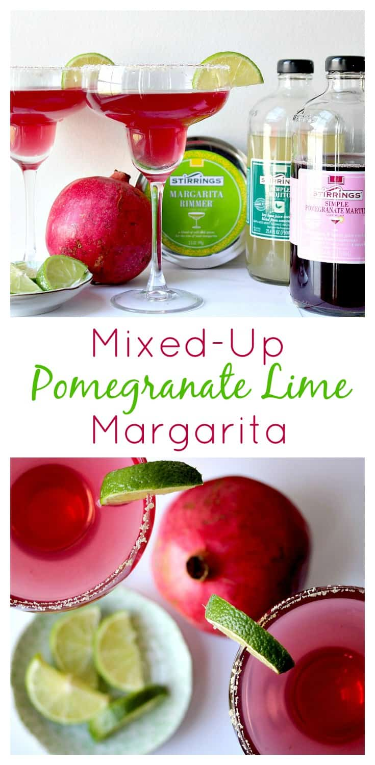 This Mixed-Up Pomegranate Lime Margarita was such an easy recipe to make! It tastes like an authentic margarita recipe but with a fun twist! Who knew pomegranate and lime would be so good together! #ad | www.OurLittleEverything.com