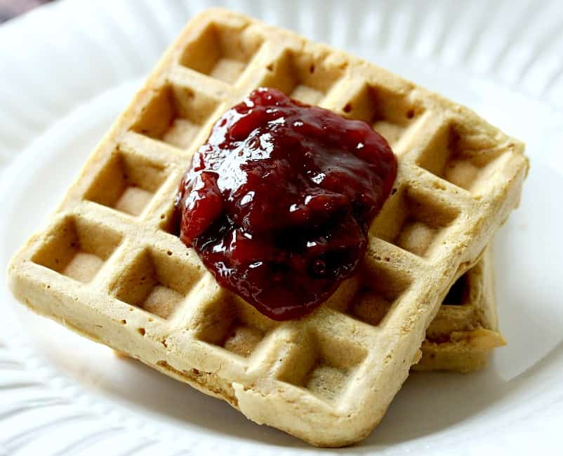 Gluten Free Peanut Butter and Jelly Waffles