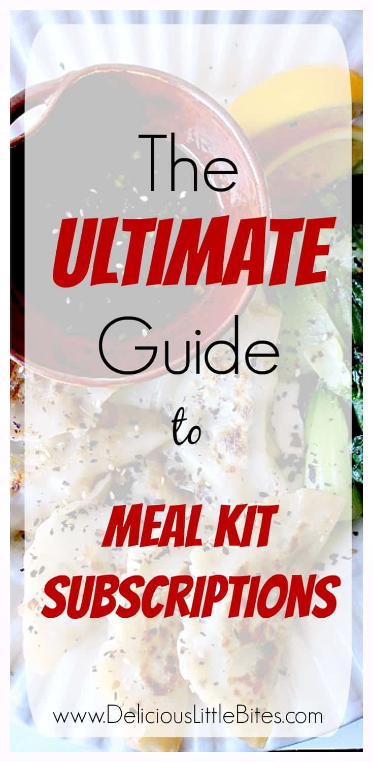 With meal kit subscriptions popping up all over, it can be hard to know which may be the right ones for you! The Ultimate Meal Kit Subscription Guide breaks down the pros and cons of some f the most popular food subscription boxes available - including Blue Apron, Hello Fresh, Home Chef and more! | www.DeliciousLittleBites.com