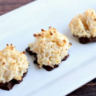 Dark Chocolate Dipped Coconut Macaroons
