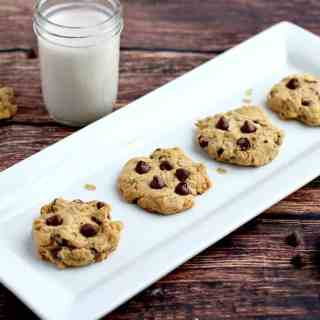 Oat & Peanut Butter Chocolate Chip Cookies