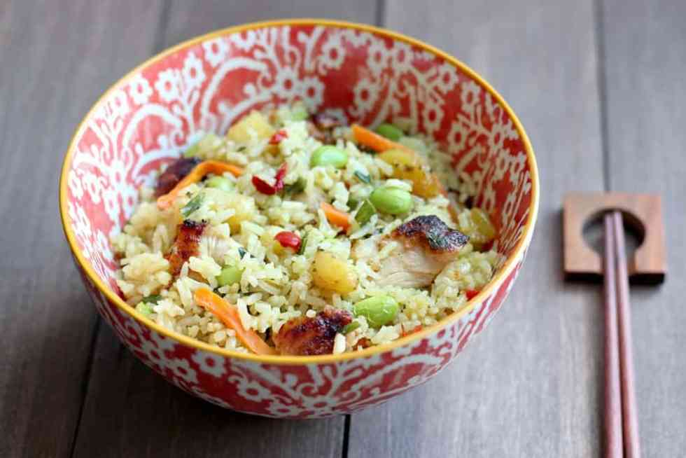 Ling Ling Thai-Style Chicken Fried Rice in a Bowl