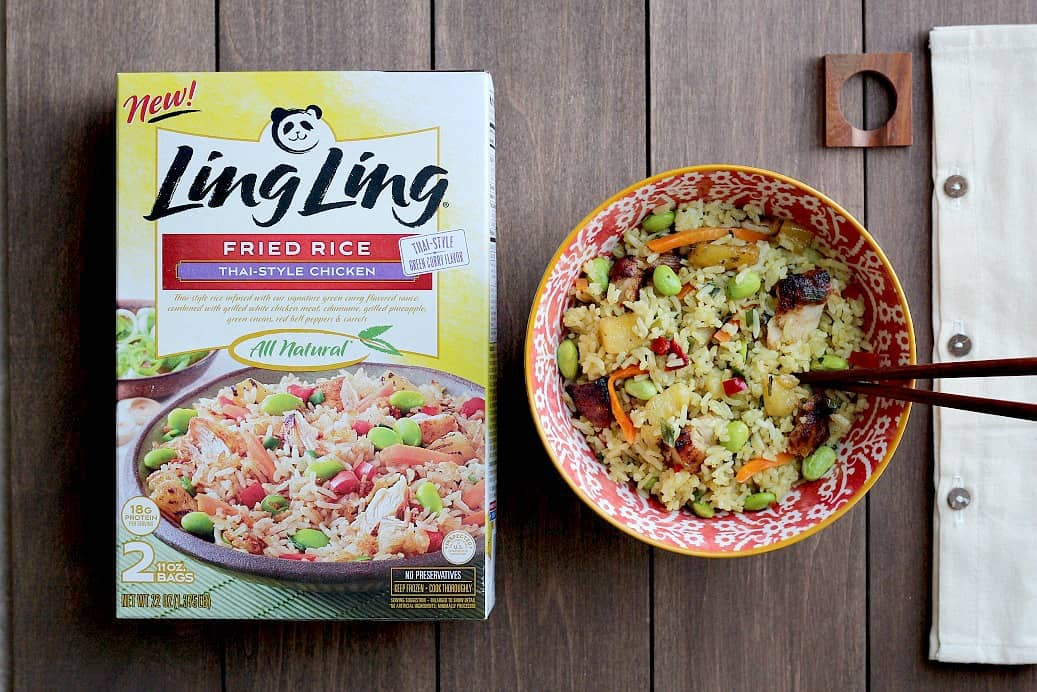 Ling Ling Thai-Style Chicken Fried Rice (in Bowl with Packaging)