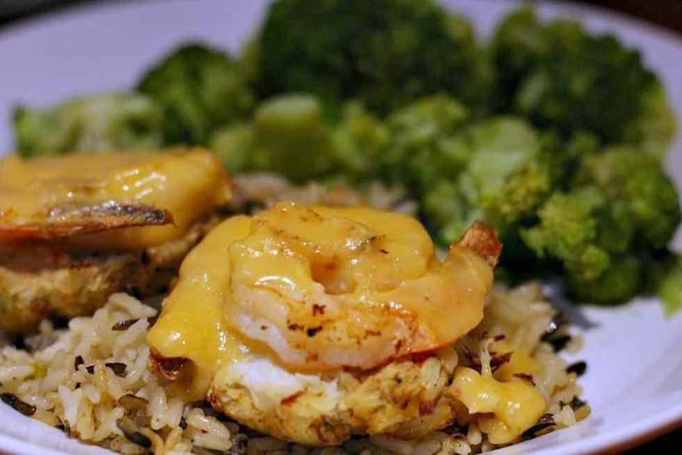 Shrimp Topped Crab Cakes Dinner