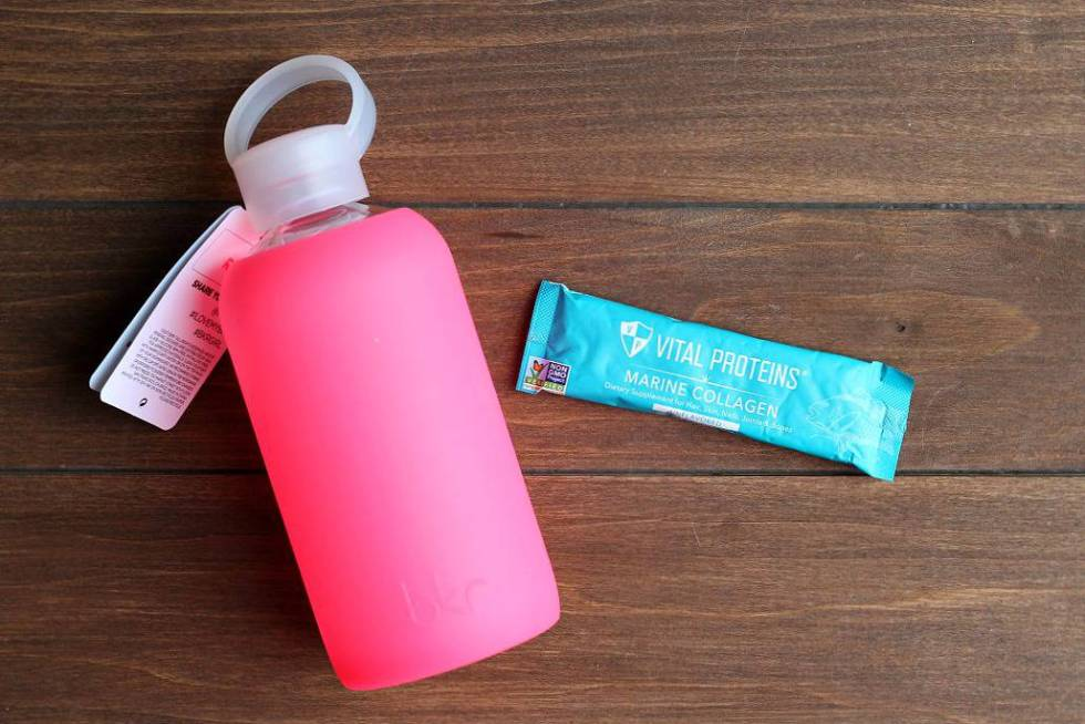 Water Bottle and Collagen Sample