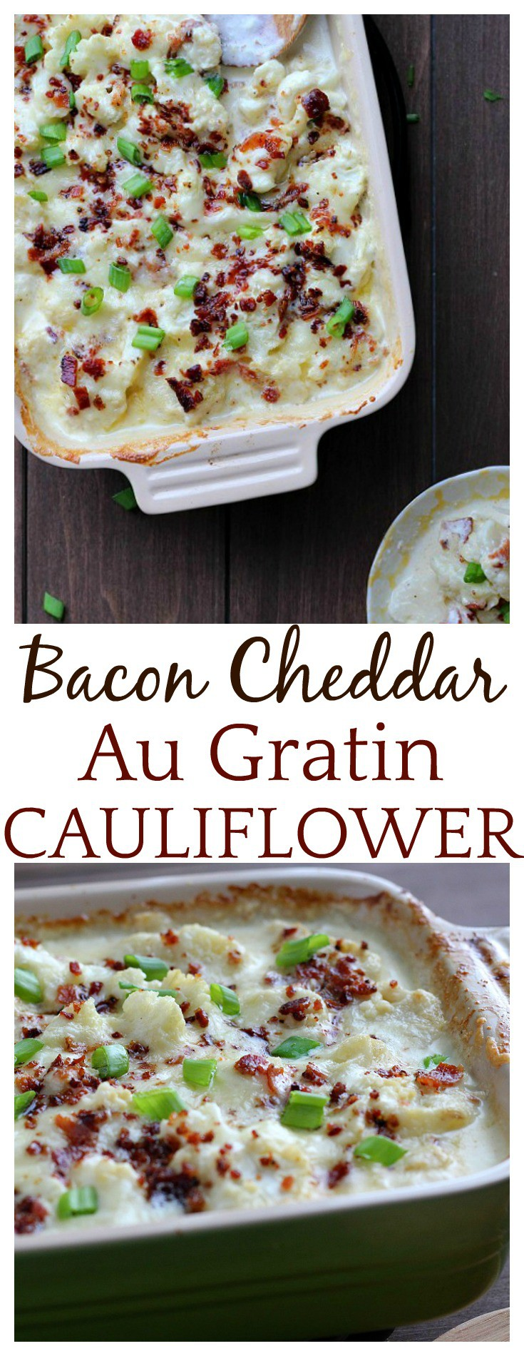Low carb Au Gratin Cauliflower is just as creamy and flavorful as Au Gratin Potatoes! This is a great side dish! It's perfect for gluten free, keto and low carb diets but everyone will love with flavorful, easy recipe! It's so good!