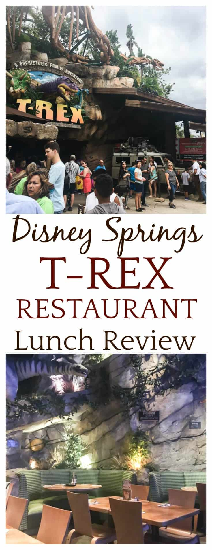 This Disney Springs T-REX Restaurant lunch review is based on my experience when visiting the restaurant in November 2017 with my family. | #disneydining #disneysprings #TREXrestaurant #disneyworld #restaurants #dlb