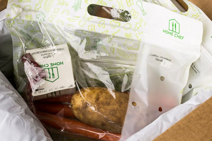 A Bag with Ingredients for One Recipe