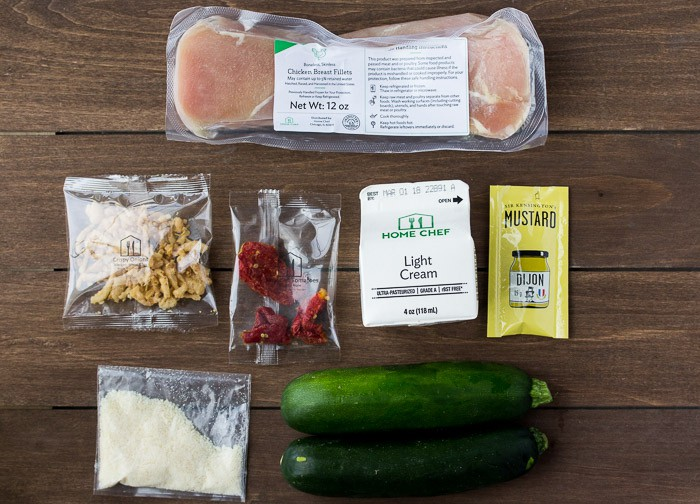 Ingredients for the Chicken Dijonnaise