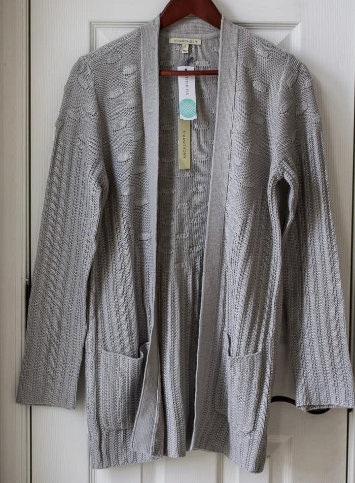 Stitch Fix 41 Hawthorn Menton Dot Stitch Cardigan