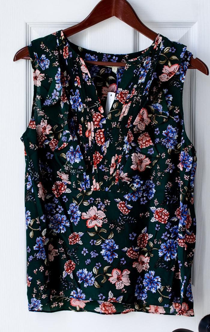 Stitch Fix Shaine Ruffle Detail Silk Blouse by 41 Hawthorn #ad #stitchfix #stitchfixreview #fashion #springfashion