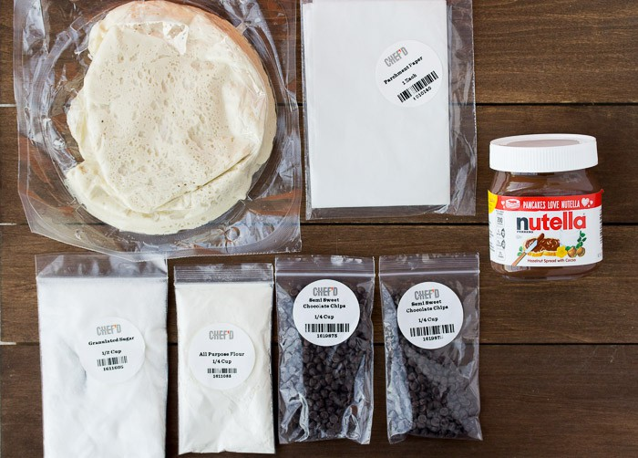 Ingredients for the Chef'd Chocolate Babka on a Wood Board